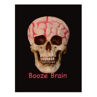 Schnaps-Gehirn Postkarte