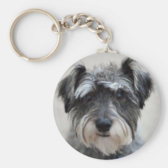 Schnauzer-Hund Keychain Schlüsselanhänger
