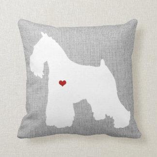 Schnauzer-Hundeliebhaber-Herz-Haustier Kissen