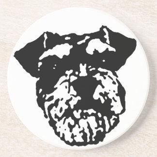 Schnauzer-HundeUntersetzer Sandstein Untersetzer