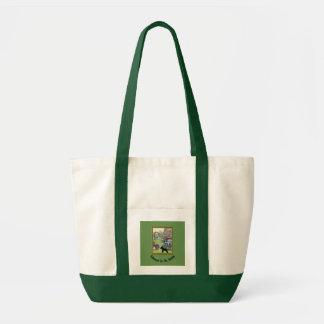 Schnauzer in der Garten-Taschen-Tasche Tragetasche