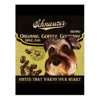 Schnauzer-Marke - Organic Coffee Company Postkarte