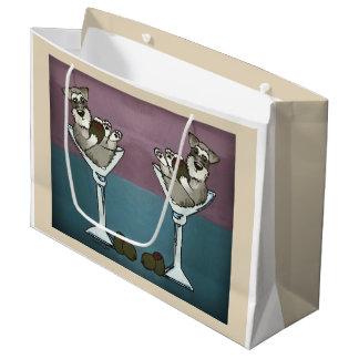 Schnauzer Martini die doppelte Große Geschenktüte