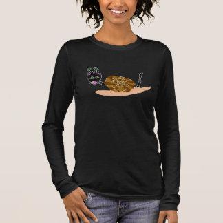 Schnecke-Katze Doreen Langarm T-Shirt