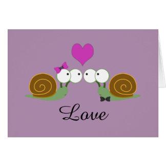 Schnecke-Liebe Mitteilungskarte