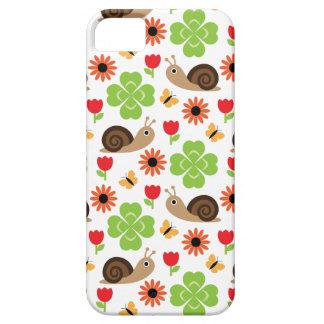 Schnecke-u. Klee-nahtloses Muster Schutzhülle Fürs iPhone 5