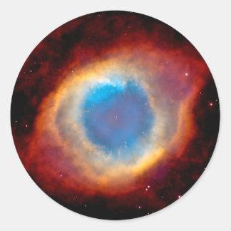 Schneckenplanetarischer Nebelfleck NGC 7293 - Auge Runder Aufkleber