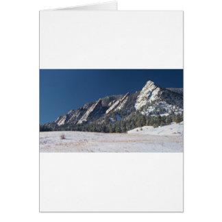 Schnee abgewischtes Flatirons Boulder Colorado Karte