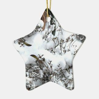 Schnee abstrakt keramik ornament