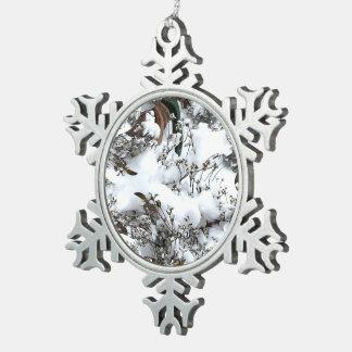 Schnee abstrakt schneeflocken Zinn-Ornament