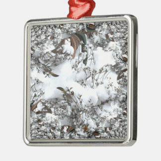 Schnee abstrakt silbernes ornament