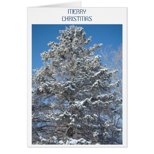 Schnee auf dem Baum Grußkarte