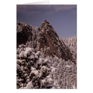 Schnee auf dem Flatirons Karte