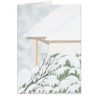 Schnee auf dem Wacholderbusch Bush Karte