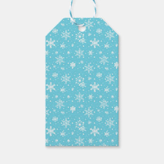 Schnee blättert gefrorenes Blau ab Geschenkanhänger