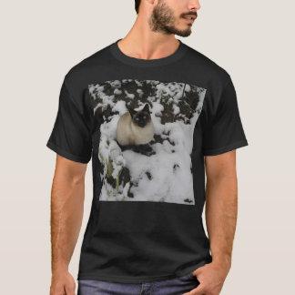 Schnee-Chow-Chow-WinterPic meiner siamesischen T-Shirt