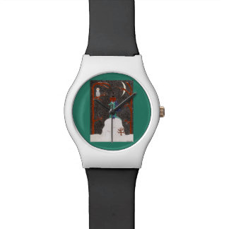 Schnee-Dackel Armbanduhr
