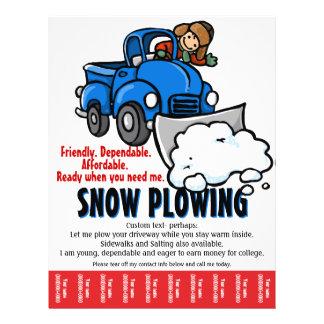 Schnee, der Service pflügt. Schneeräumunggeschäft 21,6 X 27,9 Cm Flyer