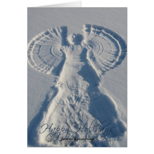 Schnee-Engels-Wünsche Sie frohe Feiertage Grußkarte
