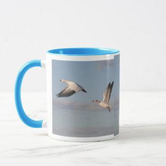 Schnee-Gans-Vogel-Tasse Tasse
