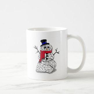 Schnee-Gehirn Kaffeetasse