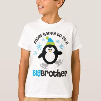 Schnee glücklich, ein großer Bruder zu sein T-Shirt