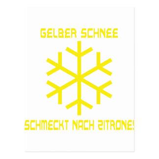 schnee Ikone Postkarte