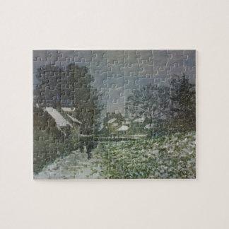 Schnee in Argenteuil durch Claude Monet, Vintage