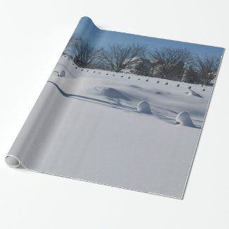 Schnee-klares weißes Weihnachten Geschenkpapier