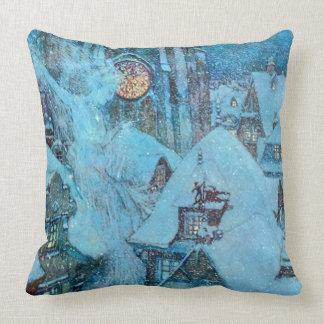 Schnee-Königin auf Dulac die Nacht eines Winters Kissen