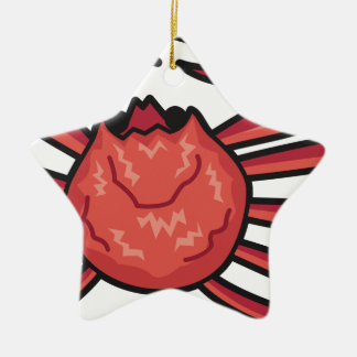 Schnee-Krabbe Keramik Ornament