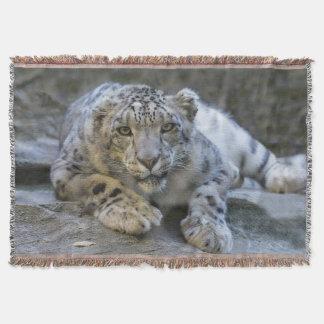 Schnee-Leopard-Wurfs-Decke Decke