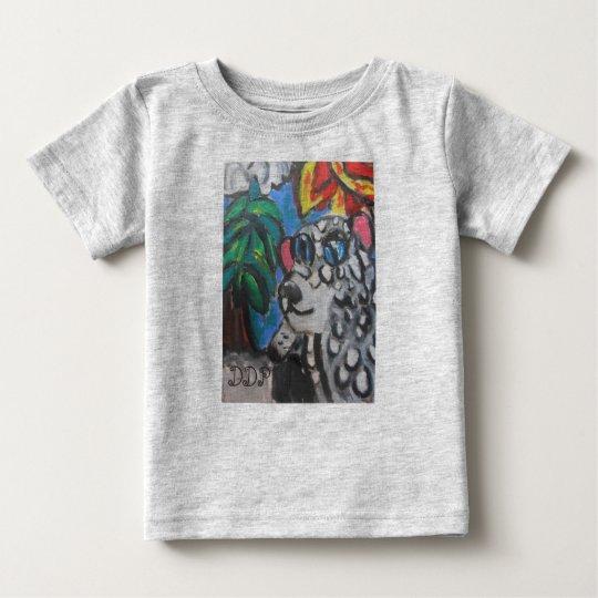 Schnee-Leopardkunst Baby T-shirt