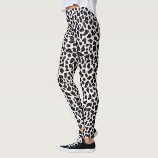Schnee-Leopardmuster Leggings