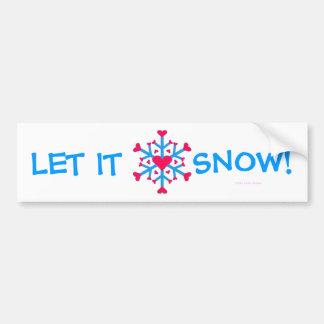 Schnee-Liebe - Autoaufkleber