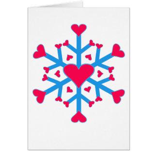 Schnee-Liebe - Karte - Vertikale