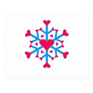 Schnee-Liebe - Postkarte - horizontal