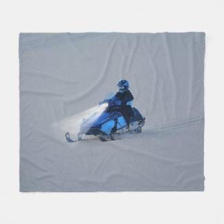 Schnee-mobiler Winter-Sport-Geschenk Fleecedecke