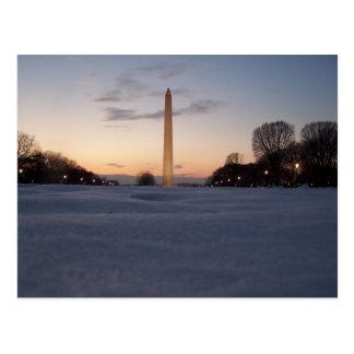 Schnee-Monument Postkarte