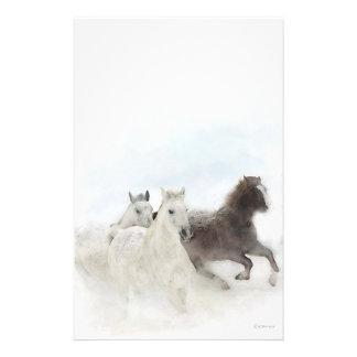 Schnee-Pferde - stationär Briefpapier