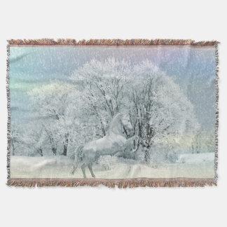 Schnee-PferdeWurfs-Decke Decke