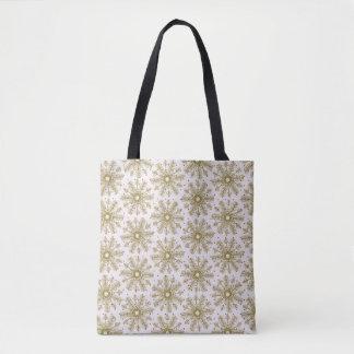 Schnee-Schneeflocke-dekorative Tasche