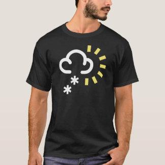Schnee-Sturm: Retro Wettervorhersagesymbol T-Shirt