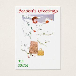 Schnee-Szenen-Geschenk-Karten Visitenkarte