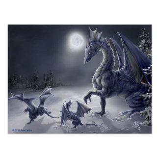 Schnee-Tagespostkarte Postkarte