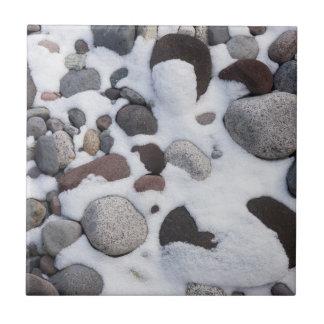 Schnee und Felsen, Nationalpark des Mount Rainier Keramikfliese