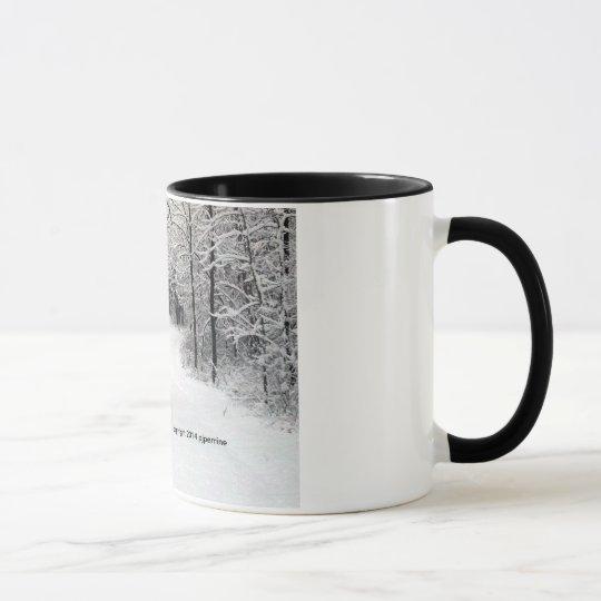 Schnee-Verkrusteter Weg Tasse