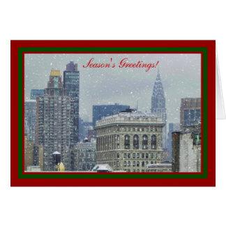 Schnee-Weihnachten #2 NYC Skyline-Chryslers Gbd Karte