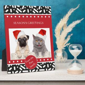 Schnee-Weihnachten stationär und Geschenke Fotoplatte