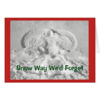 Schnee-Weise, die wir vergessen würden, Ihnen Karte